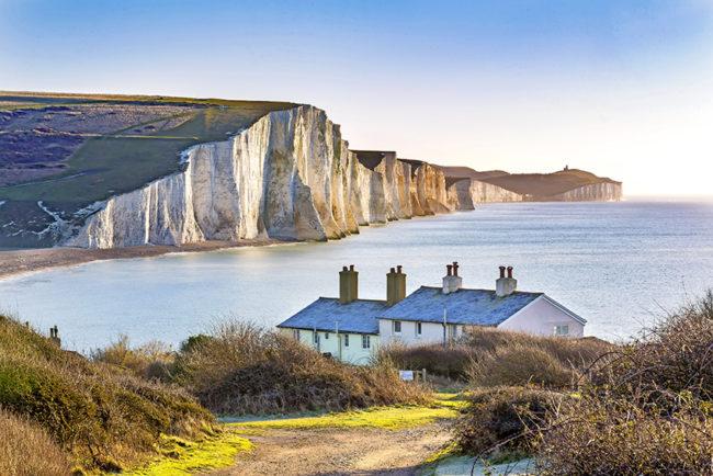 Dover mit seinen atemberaubenden weißen Klippen