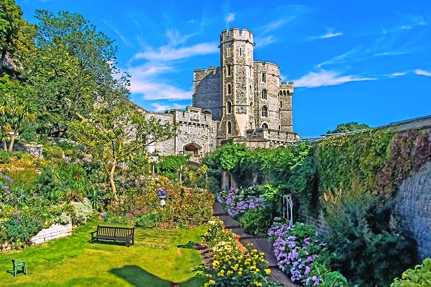Der Hauptwohnsitz der Queen: Windsor Castle  (© diego_torres - Pixabay)