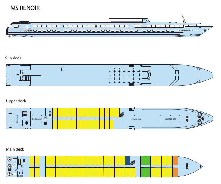 Decksplan MS Renoir
