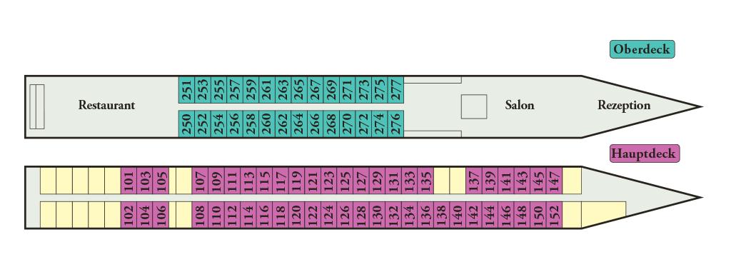 Decksplan MS Mistral/Michelangelo - Zum Vergrößern bitte anklicken!